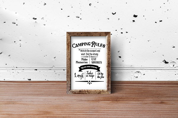 Camping Rules Sign Nature & Outdoors Craft Cut File By Creative Fabrica Crafts - Image 2