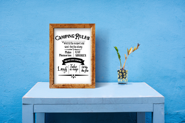 Camping Rules Sign Nature & Outdoors Craft Cut File By Creative Fabrica Crafts - Image 3