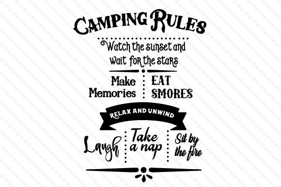 Camping Rules Sign Nature & Outdoors Craft Cut File By Creative Fabrica Crafts