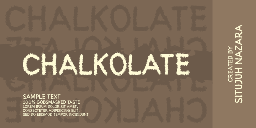 Print on Demand: Chalkolate Display Font By Situjuh