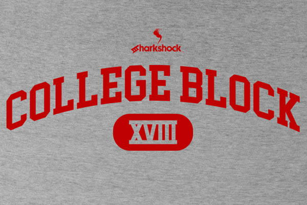 Print on Demand: College Block Display Font By Sharkshock