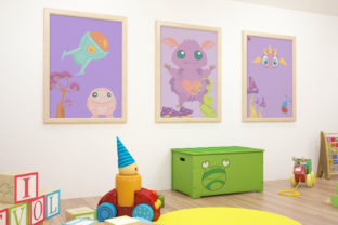 Cute Monster Kit Kits & Sets Craft Cut File By Creative Fabrica Crafts 3