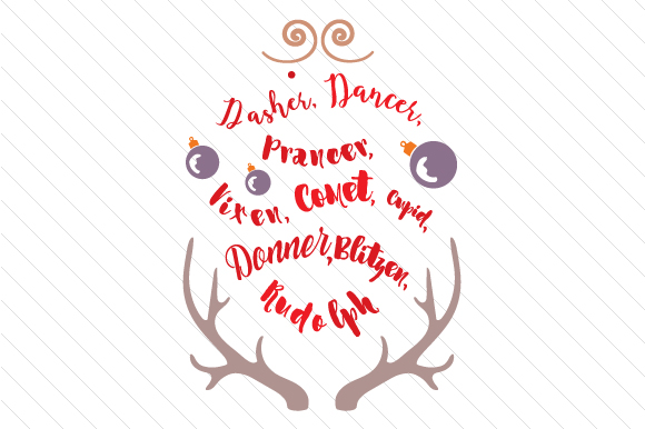 Download Free Reindeer Design Svg Cut File By Creative Fabrica Crafts for Cricut Explore, Silhouette and other cutting machines.