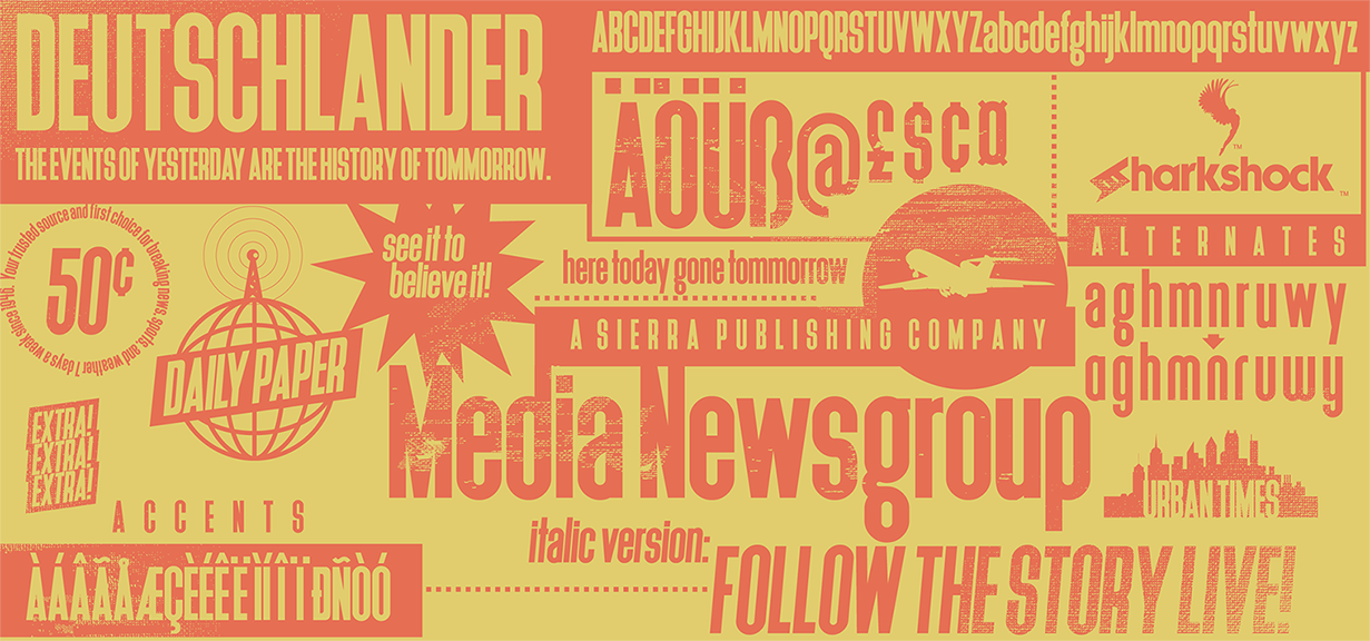Print on Demand: Deutschlander Sans Serif Font By Sharkshock