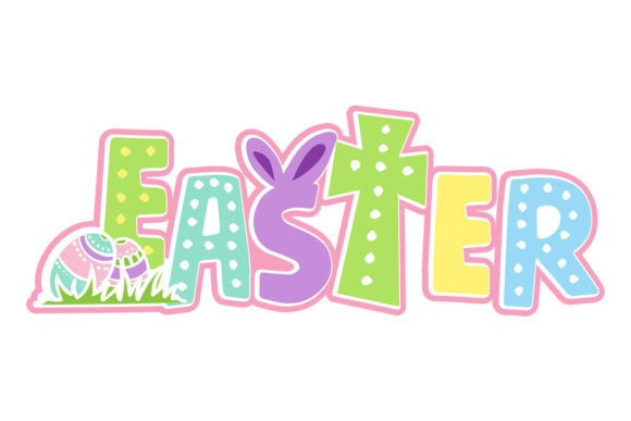 Easter - Playful Word Pascuas Archivo de Corte Craft Por Creative Fabrica Crafts
