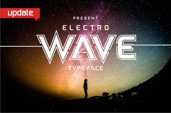 Print on Demand: Electro Wave Sans Serif Font By Jamalodin