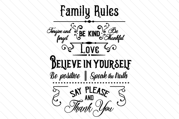 Family Rules Sign Family Craft Cut File By Creative Fabrica Crafts