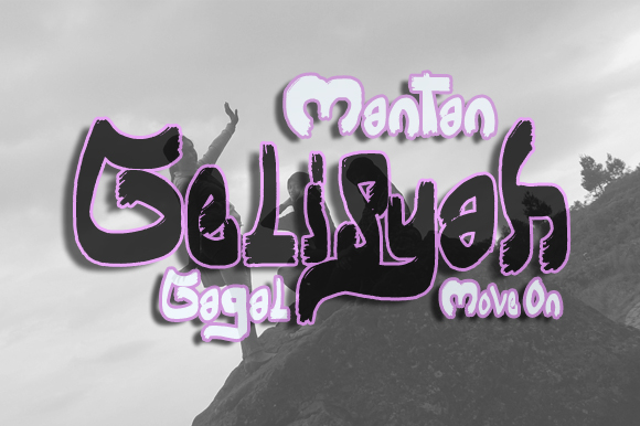 Print on Demand: Gelisyah Display Font By Gblack Id