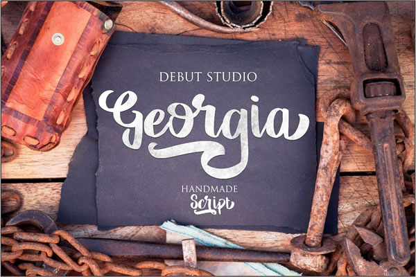 Georgia Script & Handwritten Font By Debut Studio