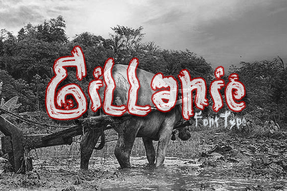 Print on Demand: Gillanie Display Font By Gblack Id