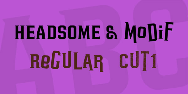 Print on Demand: Headsome Modif Serif Font By Situjuh