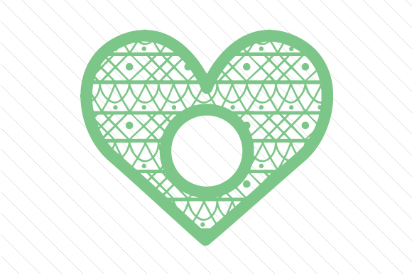 Heart Monogram Frame Svg Cut File By Creative Fabrica Crafts