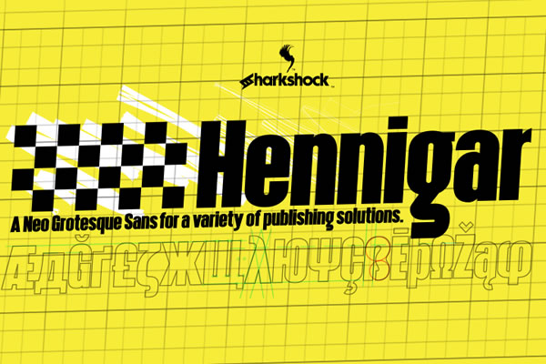 Print on Demand: Hennigar Sans Serif Font By Sharkshock