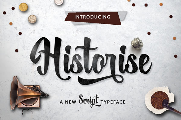 Print on Demand: Historise Script & Handwritten Font By Mercurial - Image 1