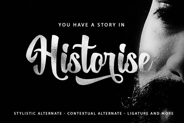 Print on Demand: Historise Script & Handwritten Font By Mercurial - Image 5