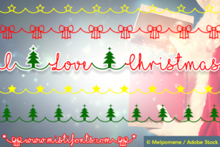Print on Demand: I Love Christmas Script & Handwritten Font By Misti