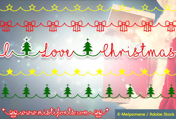 Print on Demand: I Love Christmas Manuscrita Fuente Por Misti