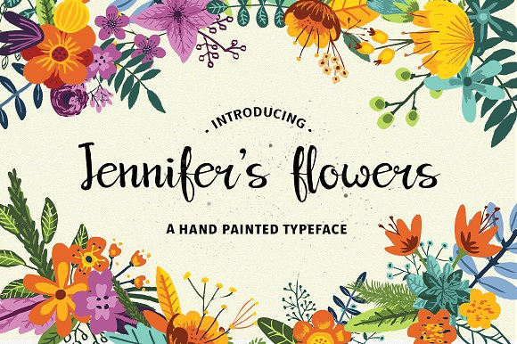 Print on Demand: Jennifer's Flowers Script & Handwritten Font By Annenkov Dmitriy
