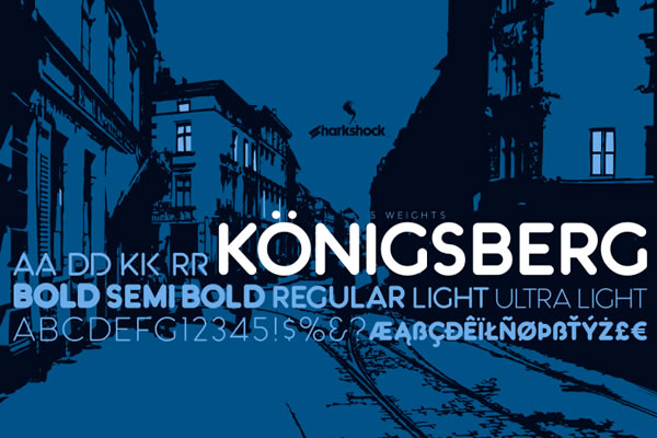 Print on Demand: Königsberg Sans Serif Font By Sharkshock