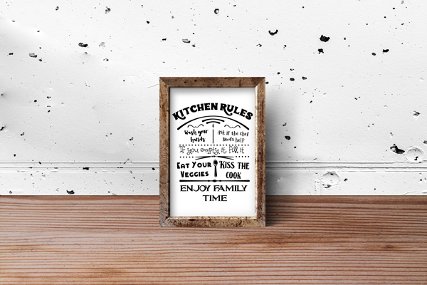 Kitchen Rules Sign Kitchen Craft Cut File By Creative Fabrica Crafts 2