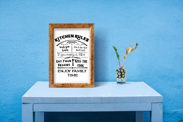 Kitchen Rules Sign Kitchen Craft Cut File By Creative Fabrica Crafts 3