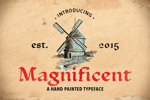 Print on Demand: Magnificent Display Font By Annenkov Dmitriy
