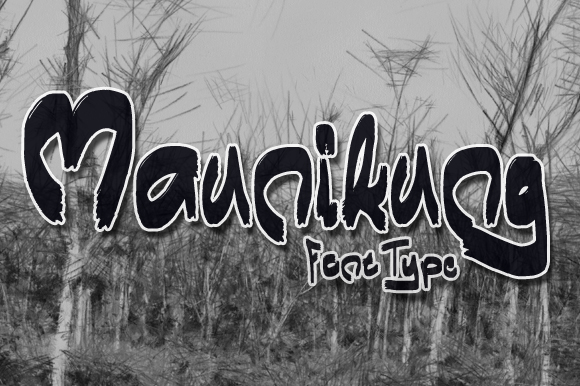 Print on Demand: Maunikung Display Font By Gblack Id