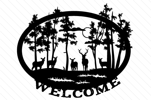 Nature Scene Welcome Svg Cut File By Creative Fabrica