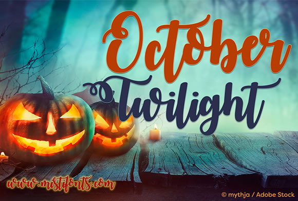 Print on Demand: October Twilight Script & Handwritten Font By Misti