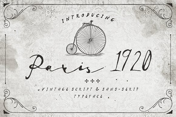 Print on Demand: Paris 1920 Sans Serif Font By Blue Robin Design Shop