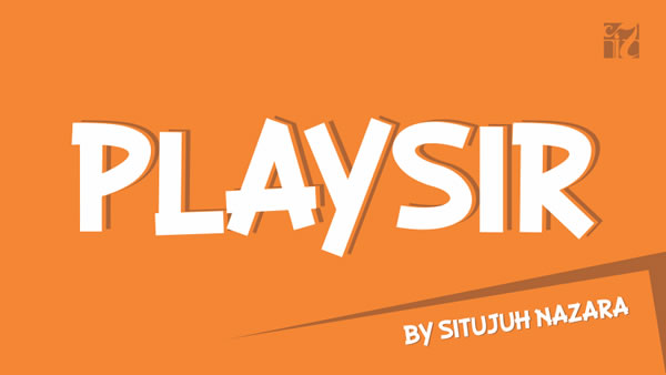 Print on Demand: Playsir Display Font By Situjuh