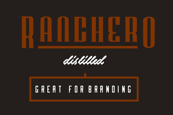 Ranchero Display Font By Noah Kinard