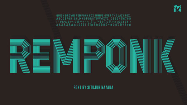 Print on Demand: Remponk Display Font By Situjuh