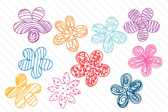 Download Free Hand Drawn Flower Set Svg Cut File By Creative Fabrica Crafts SVG Cut Files