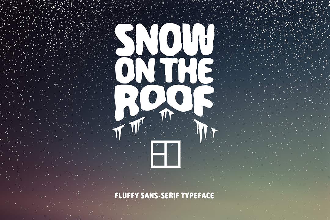 Print on Demand: Snow on the Roof Sans Serif Schriftarten von Cosmic Store