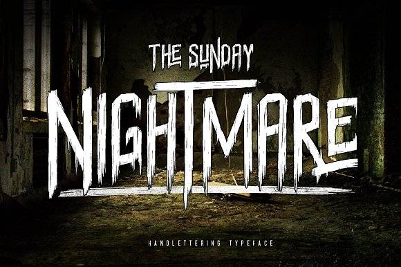 Print on Demand: Sunday Nightmare Display Font By Lettersiro Co.