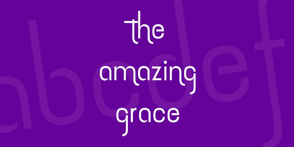 Print on Demand: The Amazing Grace Sans Serif Font By Situjuh