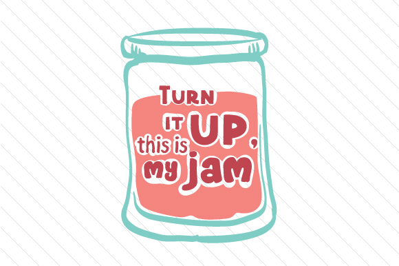 Download Free Turn It Up This Is My Jam Svg Cut File By Creative Fabrica for Cricut Explore, Silhouette and other cutting machines.