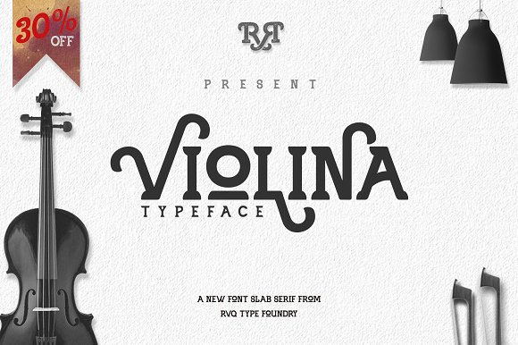 Print on Demand: Violina Slab Serif Font By Rvq Type Foundry