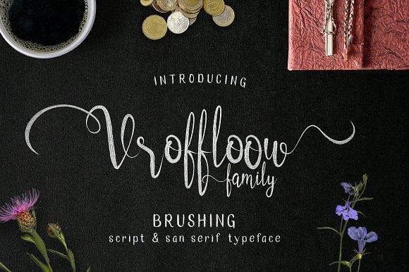 Print on Demand: Vroffloow Script & Handwritten Font By Alit Design