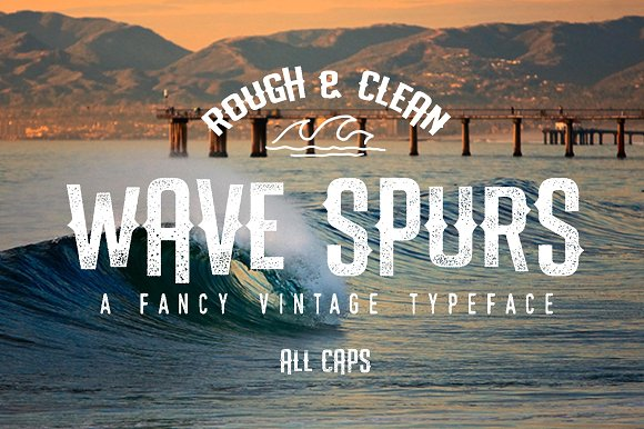 Print on Demand: Wave Spurs Display Font By Lettersiro Co.