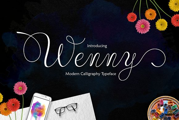Print on Demand: Wenny Script Script & Handwritten Font By Jamalodin