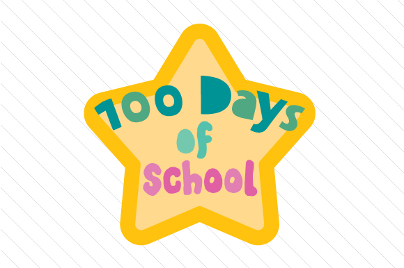 Download Free 100 Days Of School Star Archivos De Corte Svg Por Creative SVG Cut Files