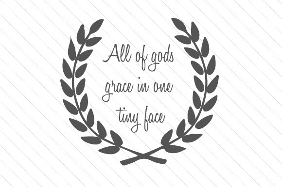 Download Free All Of Gods Grace In One Tiny Face Svg Cut File By Creative for Cricut Explore, Silhouette and other cutting machines.