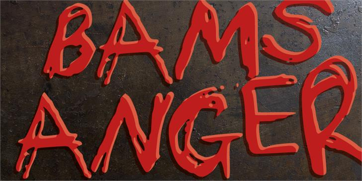 Bams Anger Display Font By GraphicsBam Fonts