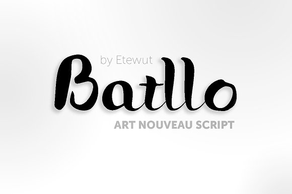 Print on Demand: Batllo Script & Handwritten Font By Etewut