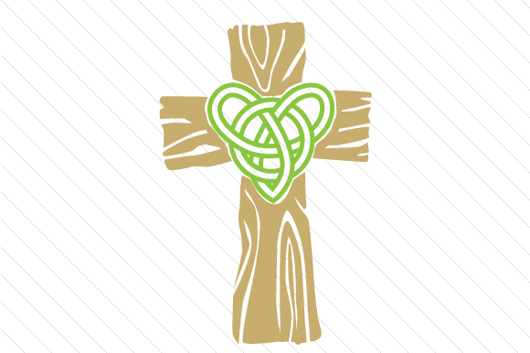 Download Free Wooden Cross With A Celtic Style Heart Svg Cut File By Creative for Cricut Explore, Silhouette and other cutting machines.