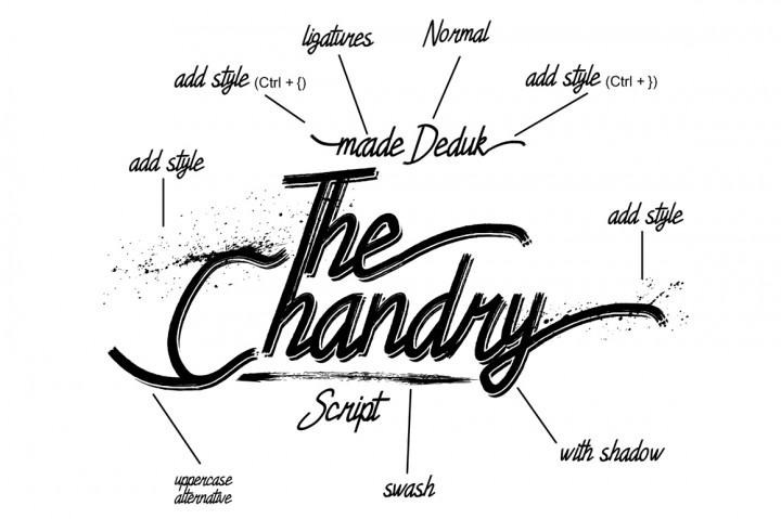 Chandry Font By madeDeduk Image 2