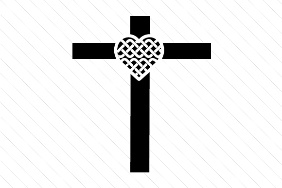 Celtic Style Heart on a Cross Religious Craft Cut File By Creative Fabrica Crafts - Image 1