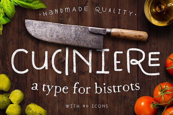Print on Demand: Cuciniere Display Font By Hederae Type Foundry